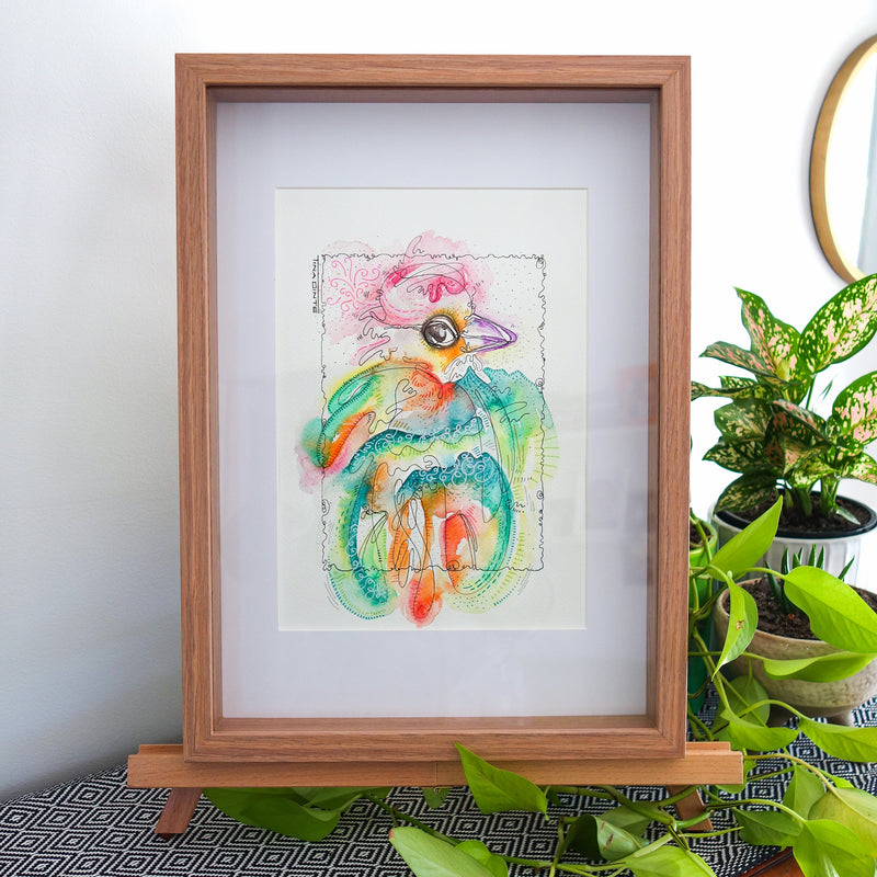 Sonsie Swallow Framed Original Illustration
