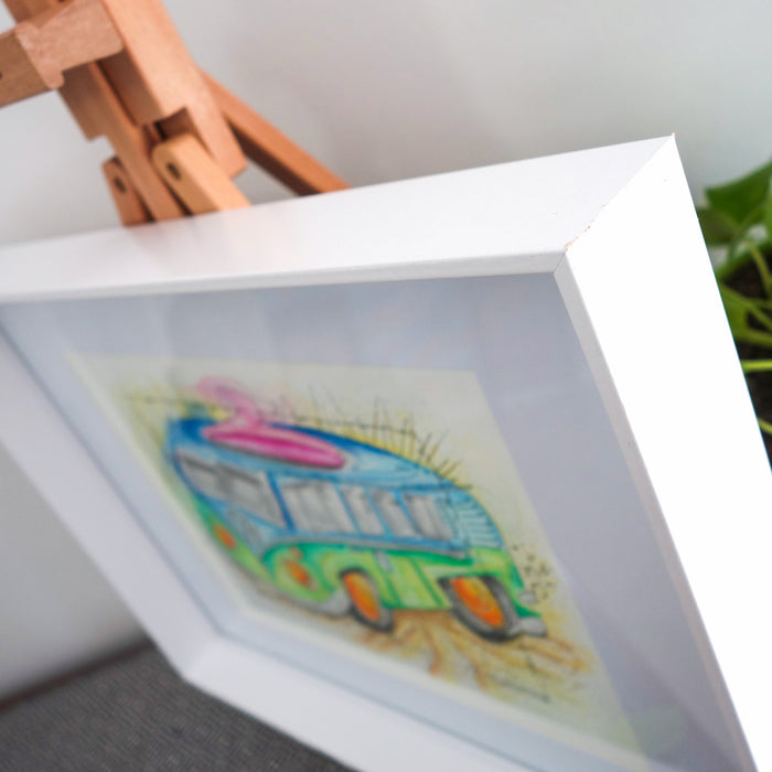 Kombi Original Framed Illustration