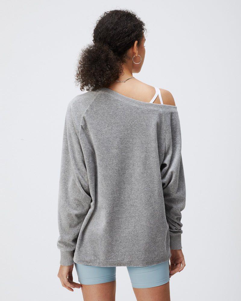 ULLA TOP HEATHER GREY