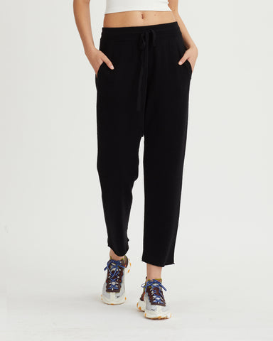 DAMIEN RIBBED PANTS BLACK