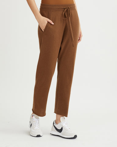 KIZZY RIBBED JUMPSUIT WALNUT