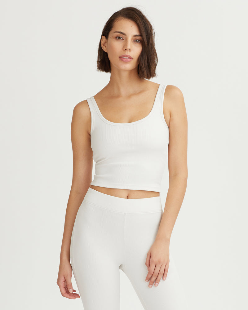IRIS RIBBED TANK CREAM