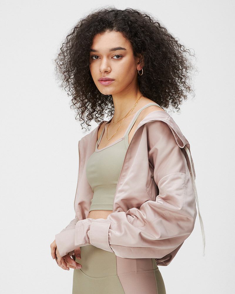 WARD HOODIE JACKET TERRACOTTA BLUSH