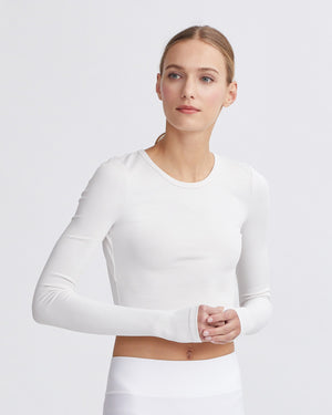 CADDIE RIBBED TOP CREAM