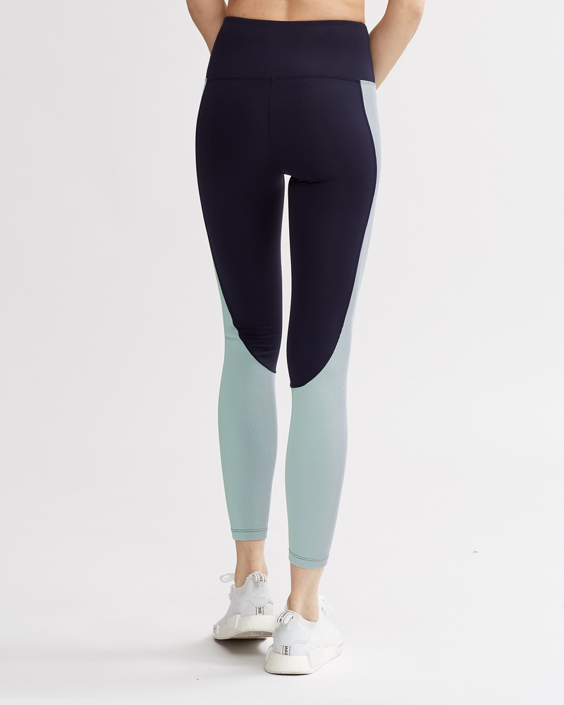 LEVEE LEGGINGS NAVY & IRIDESCENT MINT COMBO