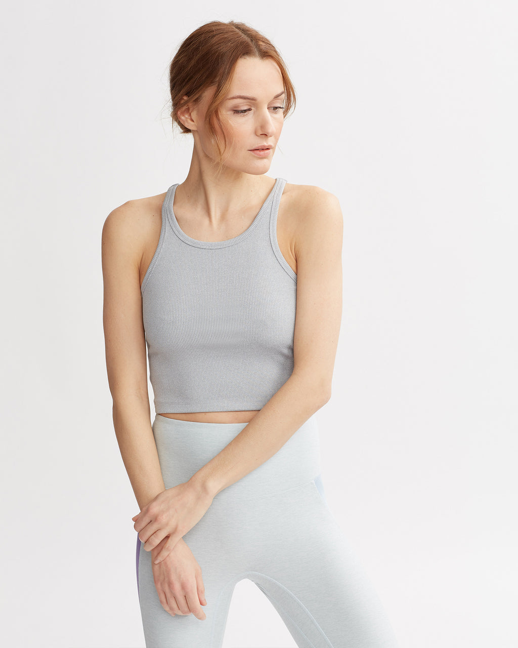 MASON RIBBED TANK HT GREY