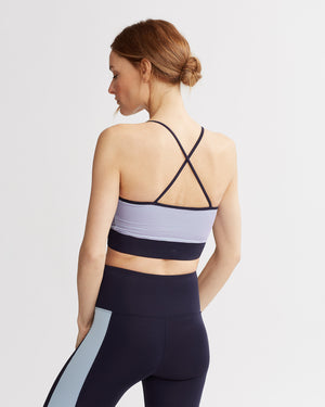ERIN TANK NAVY & IRIDESCENT PALE BLUE