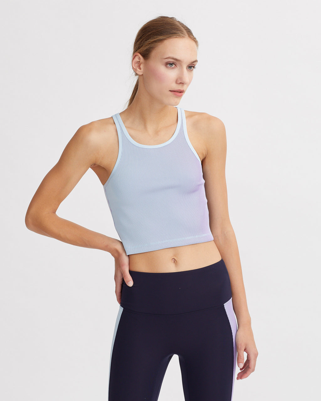 LESLEY TANK IRIDESCENT PALE BLUE