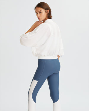 DYLAN LEGGINGS STEEL BLUE & WHITE COMBO
