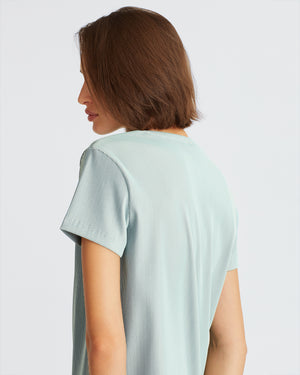 MELFORD TOP IRIDECENT MINT
