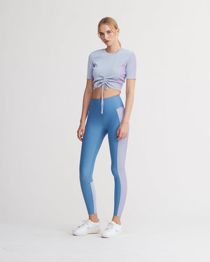 LEVEE LEGGINGS IRIDESCENT PALE BLUE & POWDER BLUE COMBO