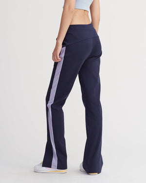 KASSIE PANTS IRIDESCENT PALE BLUE & NAVY COMBO