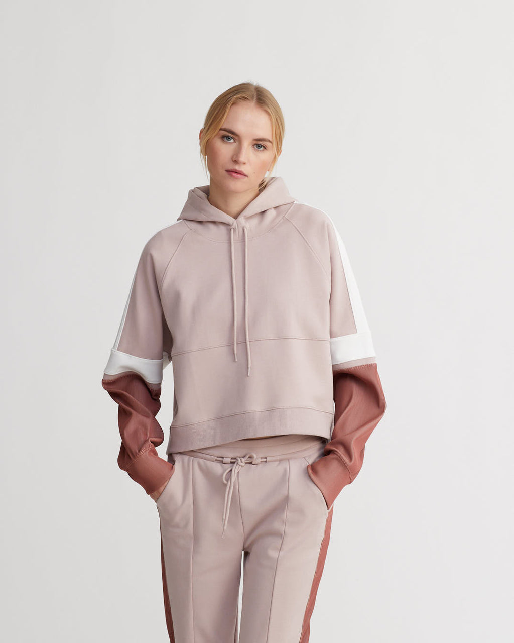 WELLESLEY HOODIE IRIDESCENT SIENNA PALE ROSE COMBO