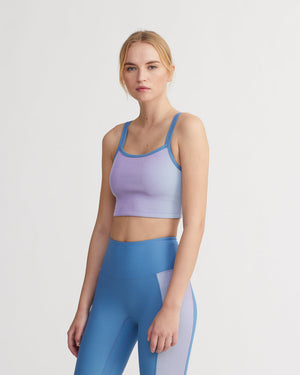 DARWIN TANK IRIDESCENT PALE BLUE & POWDER BLUE COMBO