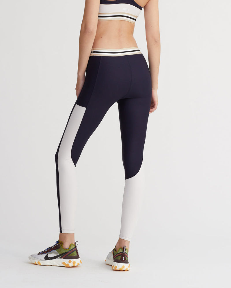 OSIER LEGGINGS FOG & NAVY COMBO