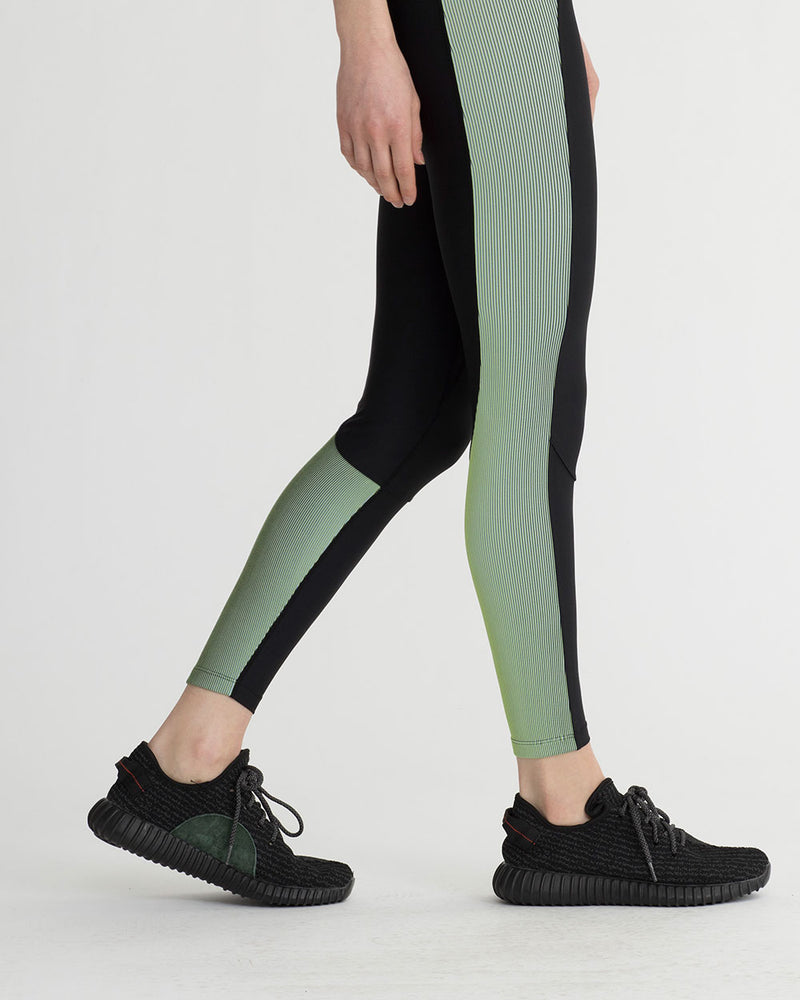 LEVEE LEGGINGS IRIDESCENT LIME GREEN