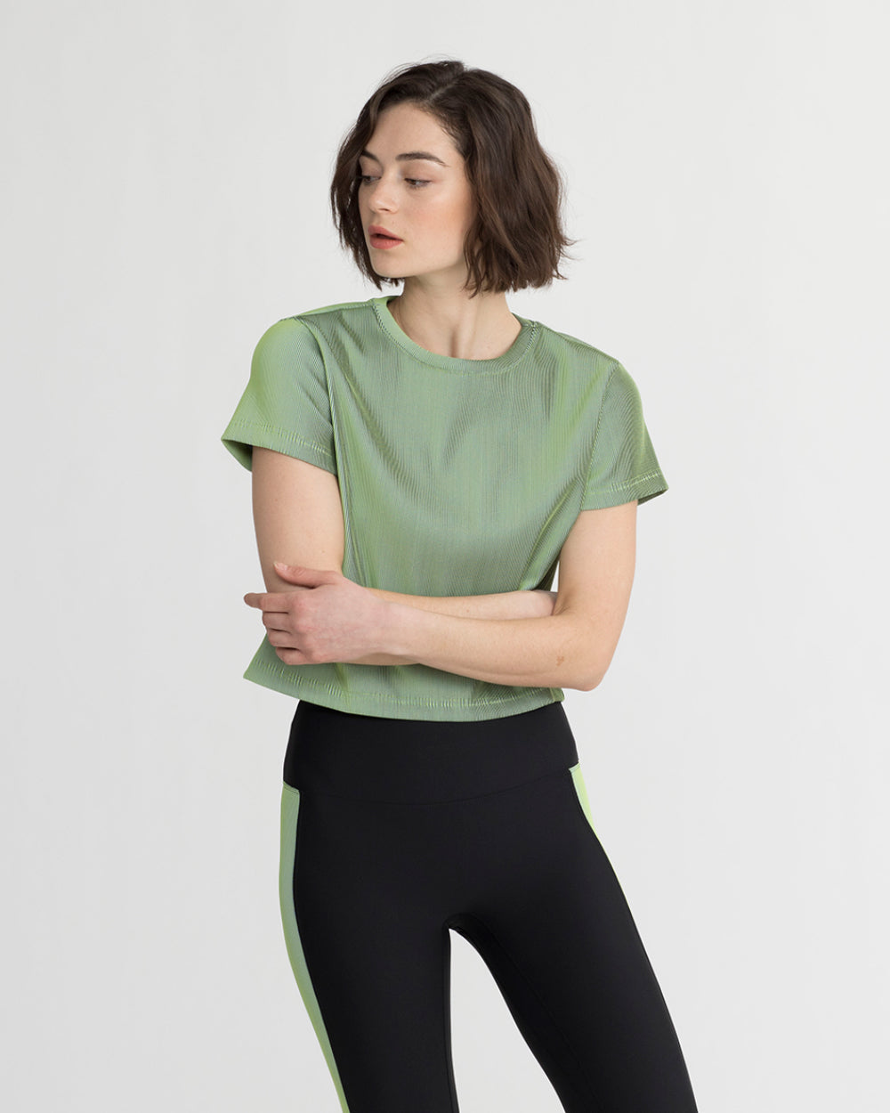 MELFORD TOP IRIDESCENT LIME GREEN