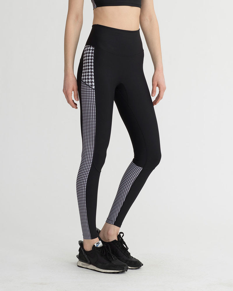 BECKTON LEGGINGS BLACK & WHITE HOUNDSTOOTH COMBO