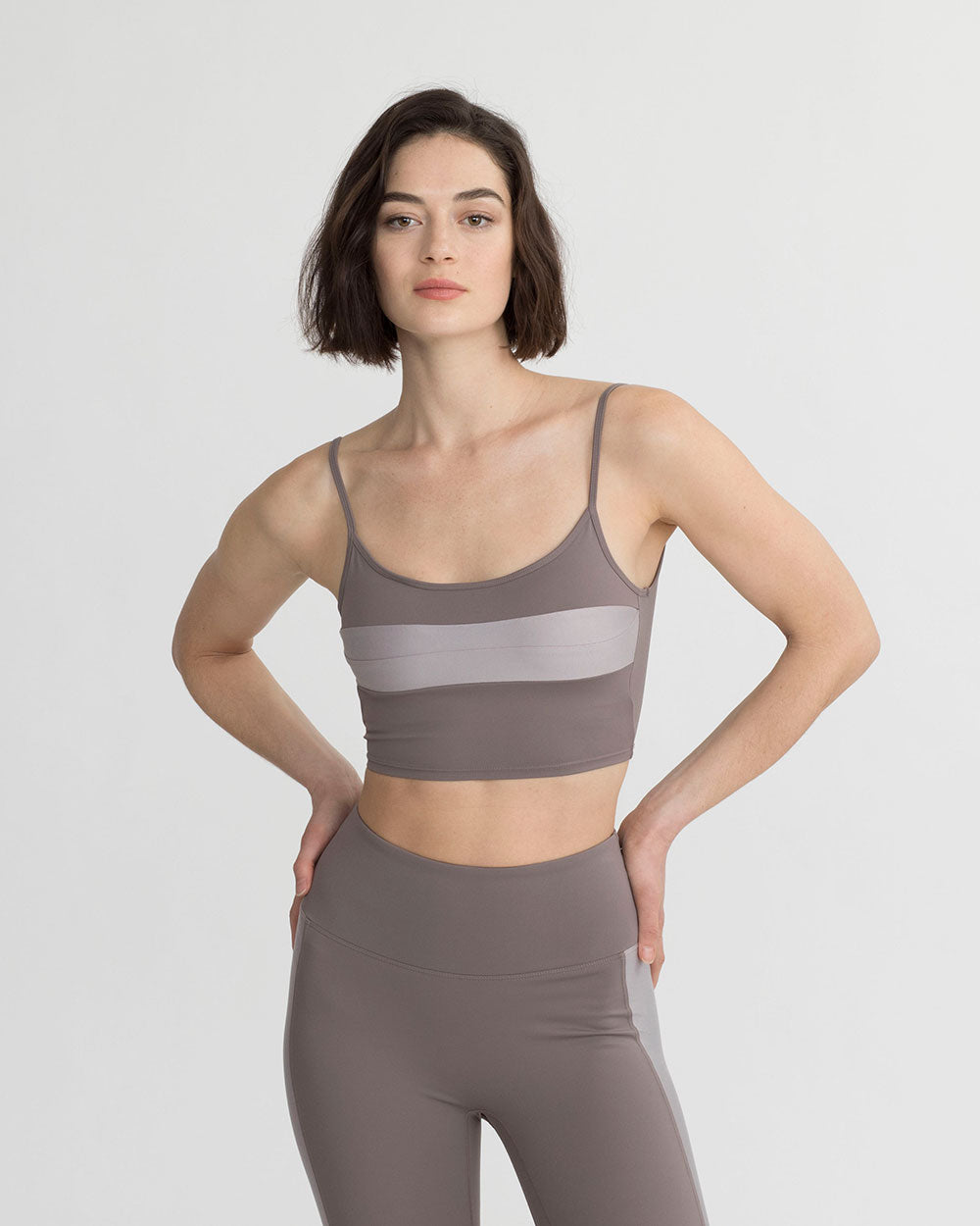 CLEO TANK TAUPE & PEARL