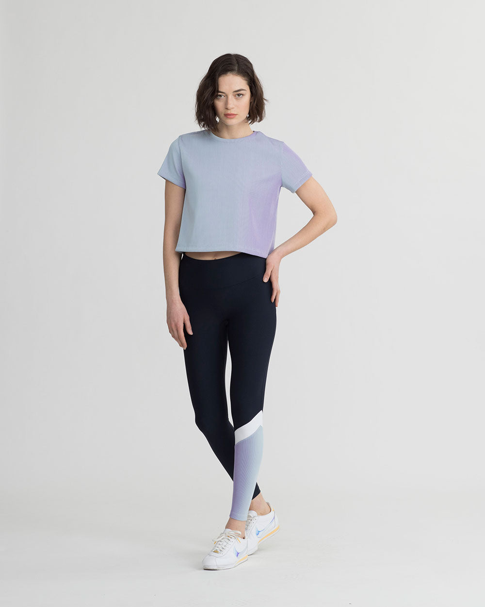 BARCLAY LEGGINGS IRIDESCENT PALE BLUE