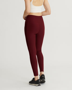 PAISLEY LEGGINGS BURGUNDY