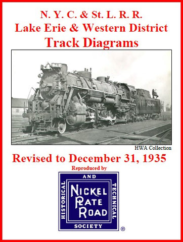 Track Diagrams -- Lake Erie & Western 1935 or 1963