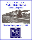 Track Diagrams -- Nickel Plate District 1948 or 1963
