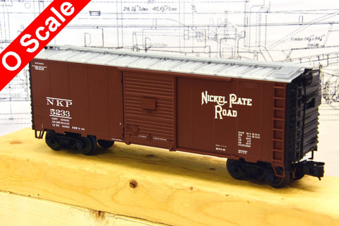 O Scale 40-foot Nickel Plate Road Boxcar in 2- and 3-Rail Versions