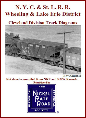 Track Diagrams --Wheeling & Lake Erie District, Cleveland or Toledo