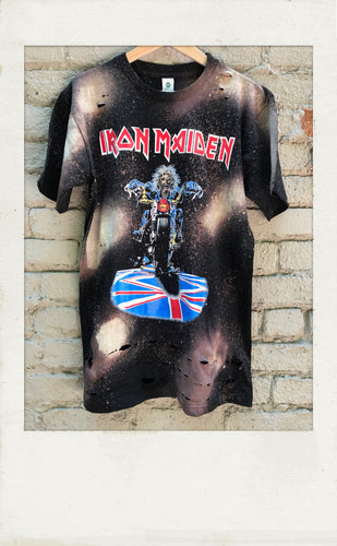 Vintage Iron Maiden distressed Band Tee