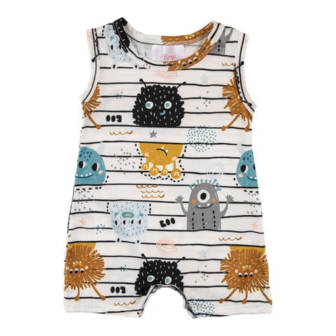 Monster Mania Shorty Romper