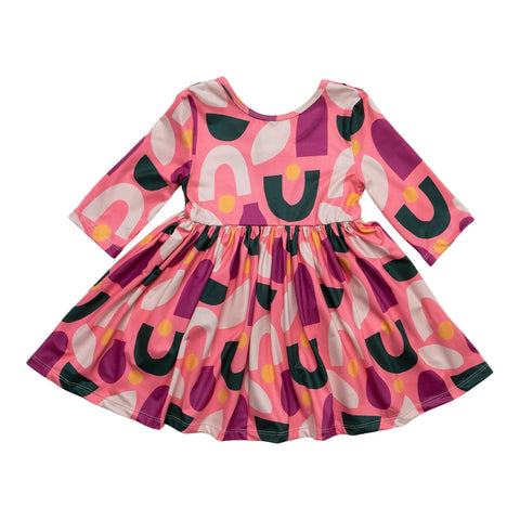 Groovy Vibes Ruffle Twirl Dress