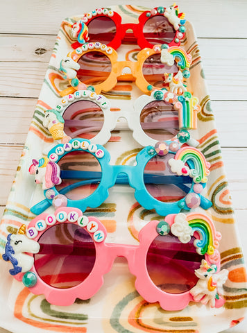 Personalized Flower Sunglasses