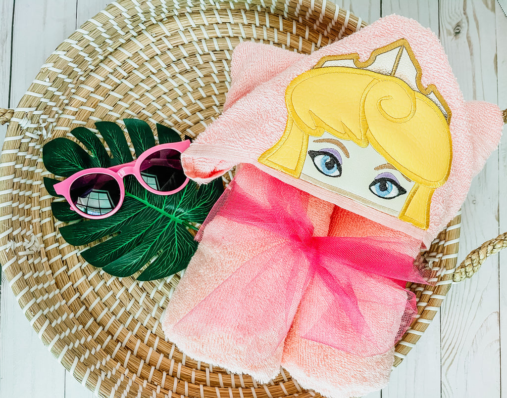 Sleeping Princess Hooded Towel