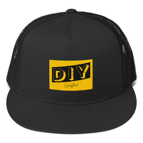 Show the world you do it yourself d i y certified brand co diy certifiedtrucker cap blackyellow solutioingenieria Images