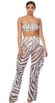 Light Zebra Pants Set