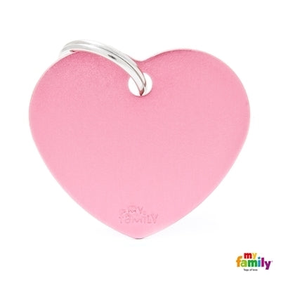 Heart Pink Name Tag