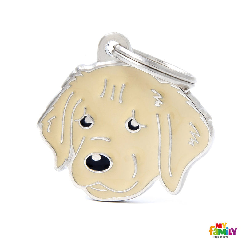 Golden Retriever Dog Name Tag
