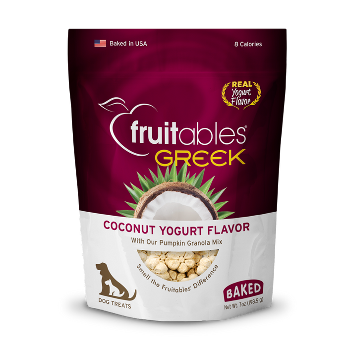 Baked Fruitables Coconut Yogurt Crunchy Dog Treats with Pumpkin Granola Mix 8 Cal/Treat198.5gms