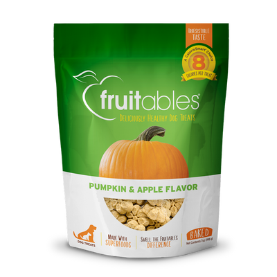 Apple-inspired dog treat combines fresh pumpkin, sweet apples & a touch of cinnamon
