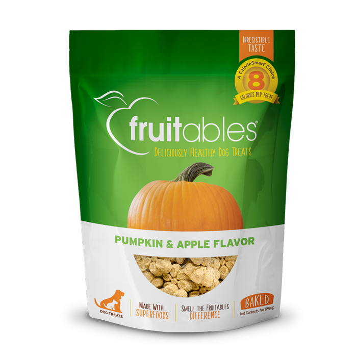 Apple-inspired dog treat combines fresh pumpkin, sweet apples and a touch of cinnamon