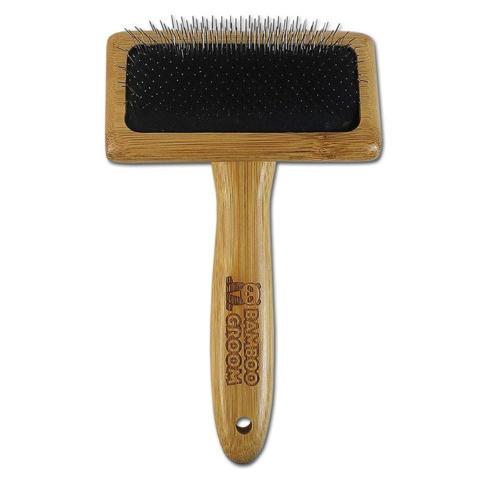 Bamboo Groom Soft Slicker Brush For Cats & Dogs
