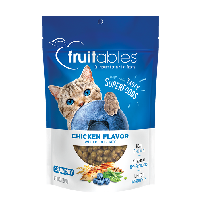 Fruitables Chicken Flavor With Blueberry Cat Treat