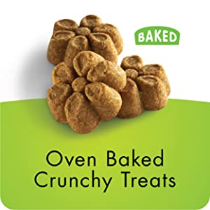 oven-baked crispy treats with a healthy crunch your dog is sure to love.