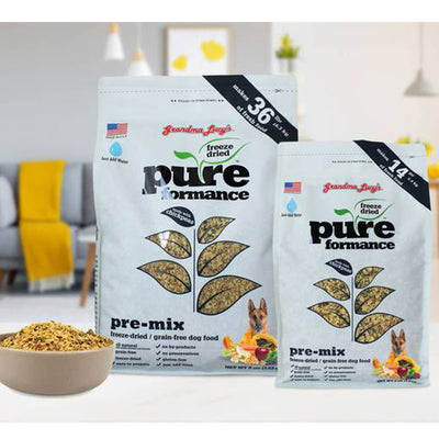 Grandma Lucy's Pureformance with simple ingredients to bring your pet best simple nutrition in one convenient bag.