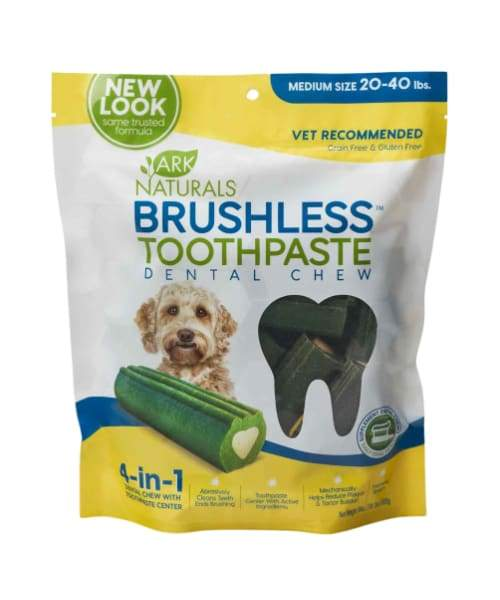 Ark Naturals - Brushless Toothpaste For Dogs - Medium 18oz/510g 60count - Pet Suppliments
