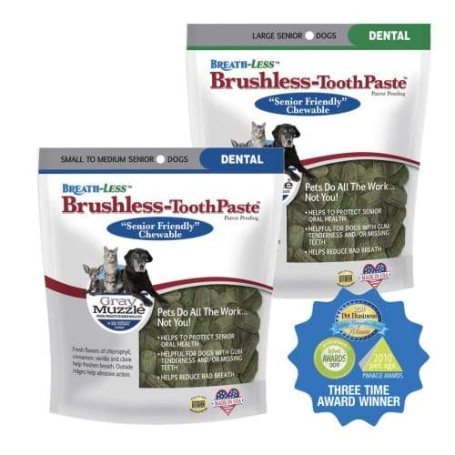 Ark Naturals - Grey Muzzle Brushless Toothpaste For Adult Cats and Senior Dogs - Small To Medium 12 oz - Pet Suppliments