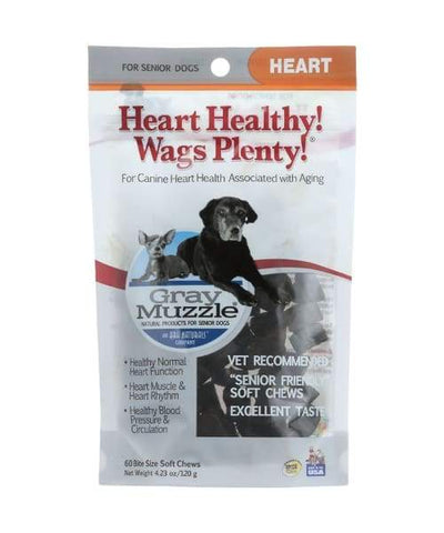 Ark Naturals Heart Healthy Wags Plenty Supplement For Senior Dogs - 60 Count - Pet Suppliments