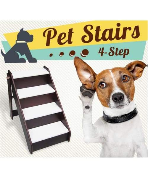 Foldable Non Slip Pet Stairs Or Ladder For Cats & Dogs - Comfort Supplies