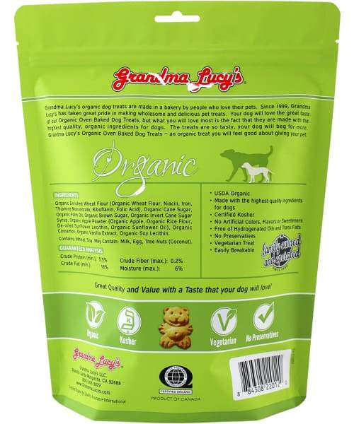 Grandma Lucys Organic Apple Oven-Baked Dog Treat - Dog Treat